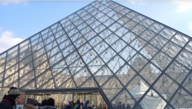 Вход в музей Лувр