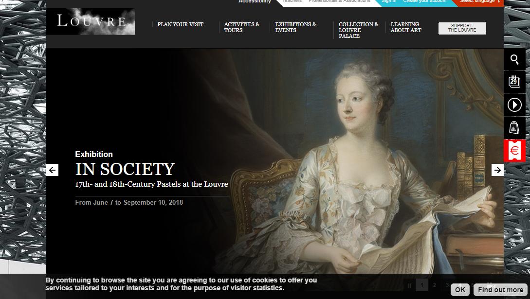 Сайт музея Лувр в Париже